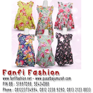 dress kutung bunga motif baju import fanfi fashion